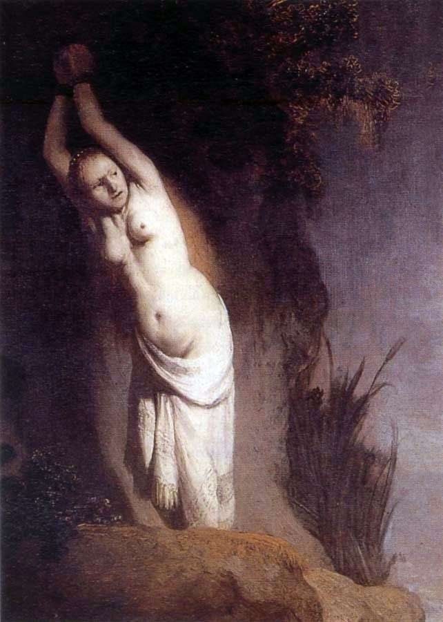Andromeda by Rembrandt Harmens Van Rhine