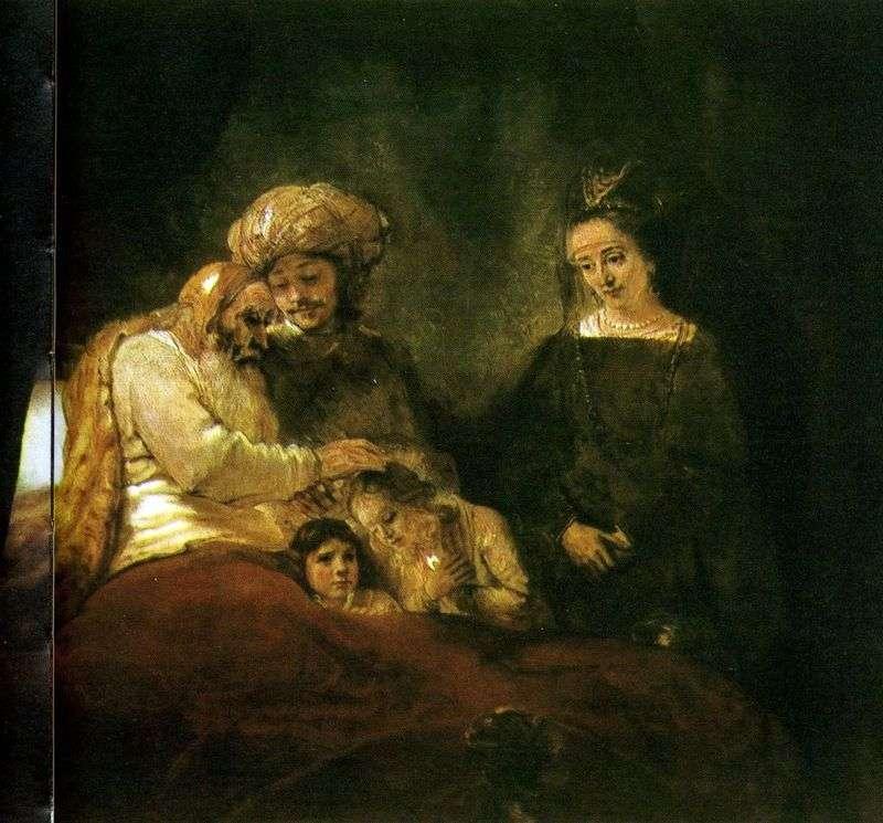 Jacobs Blessing by Rembrandt Harmens Van Rhine