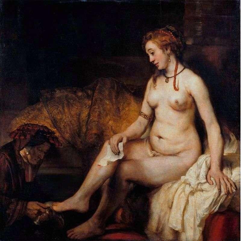 Bathsheba by Rembrandt Harmens Van Rhine