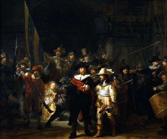 Speech of the rifle company by Rembrandt Harmens Van Rhine