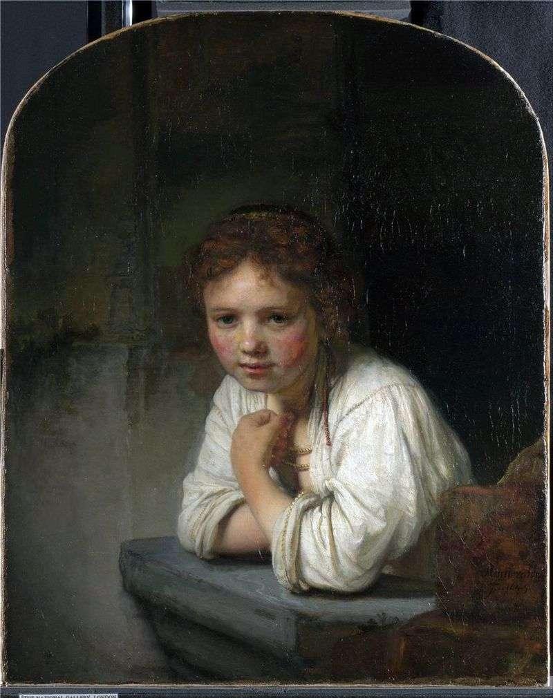 Girl by the Window by Rembrandt Harmens Van Rhine
