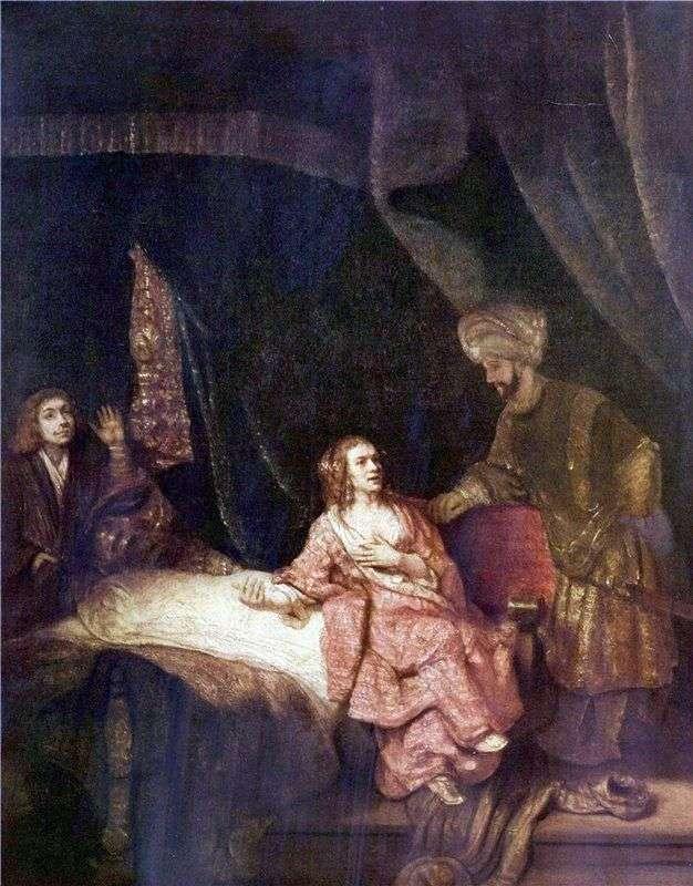 Potiphars wife accuses Joseph by Rembrandt Harmens Van Rhine