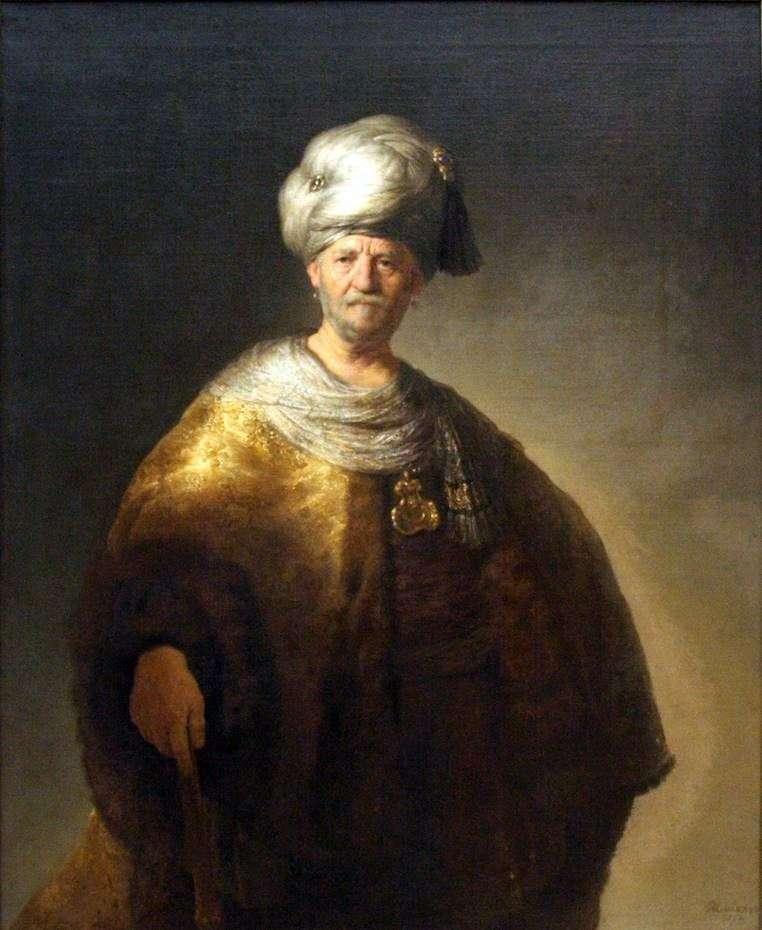Noble Slav by Rembrandt Harmens Van Rhine