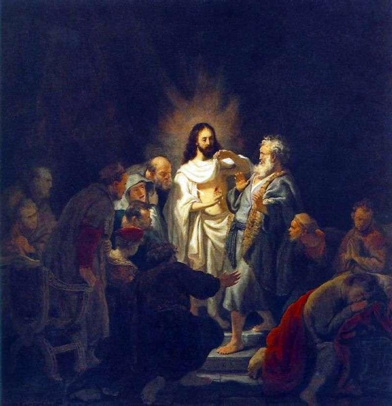 Unbelief of the Apostle Thomas by Rembrandt Harmens Van Rhine