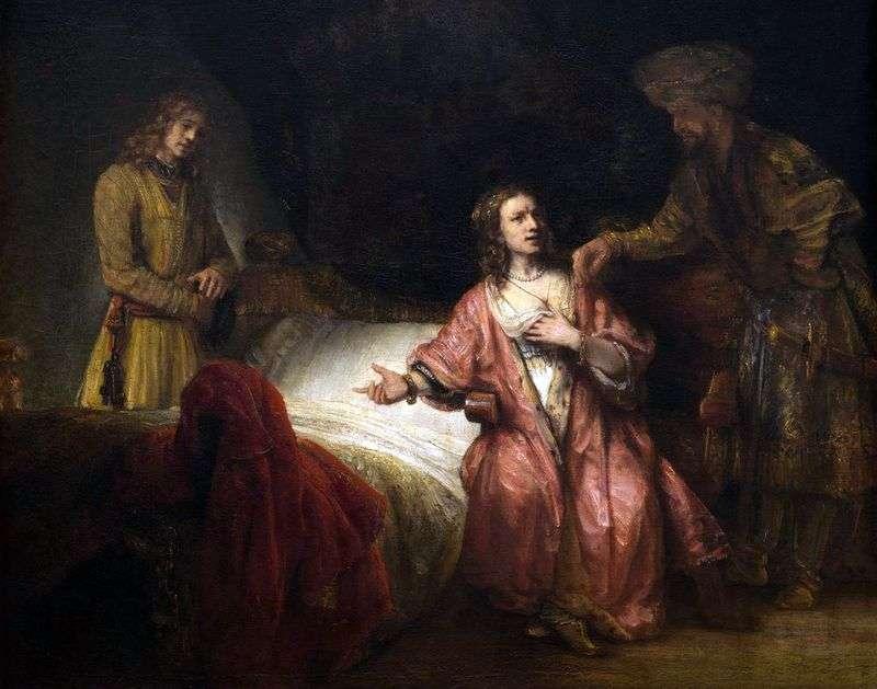 Josephs Accusation by Rembrandt Harmens Van Rhine