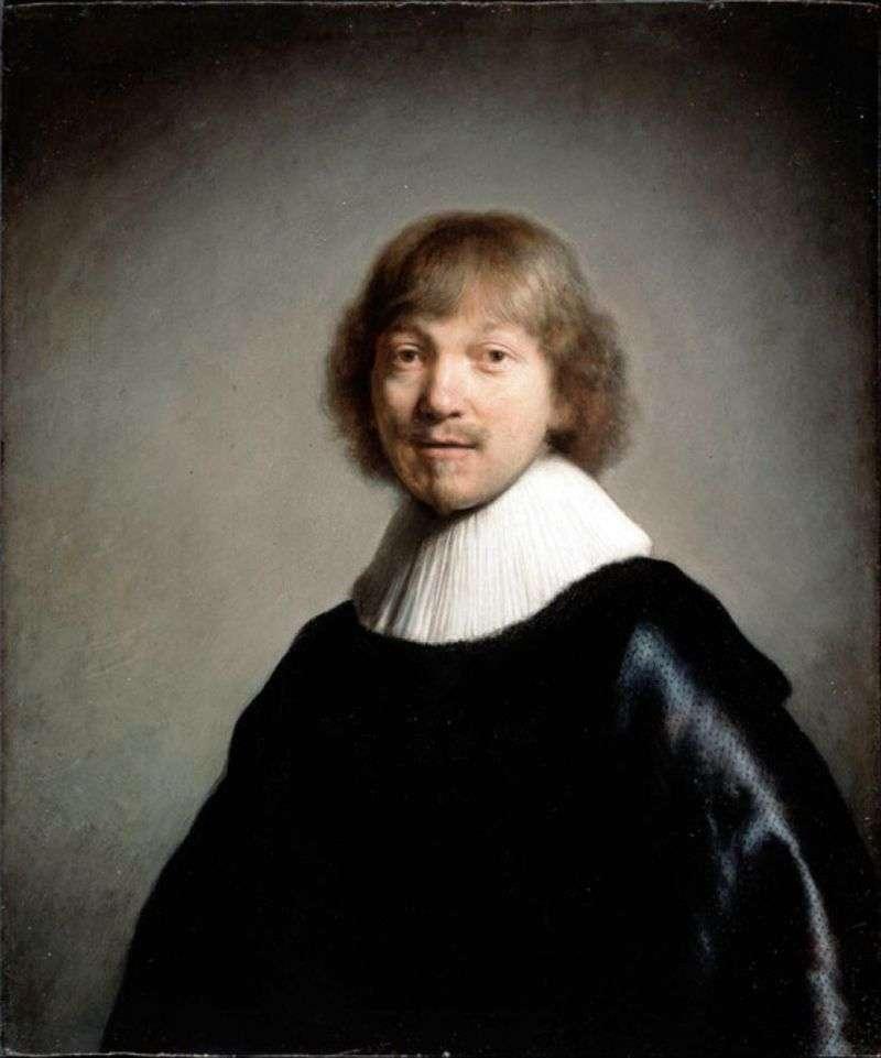 Portrait of Jacques de Gaine III by Rembrandt Harmens Van Rhine
