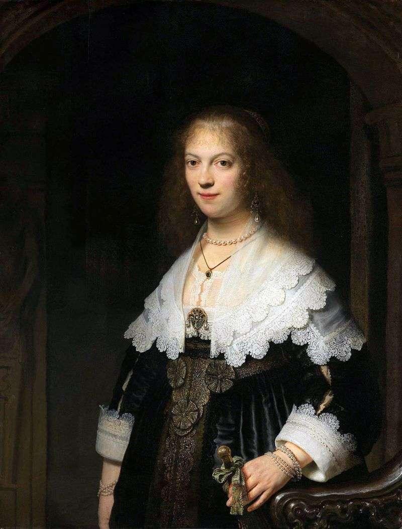 Portrait of Maria Trip by Rembrandt Harmens Van Rhine