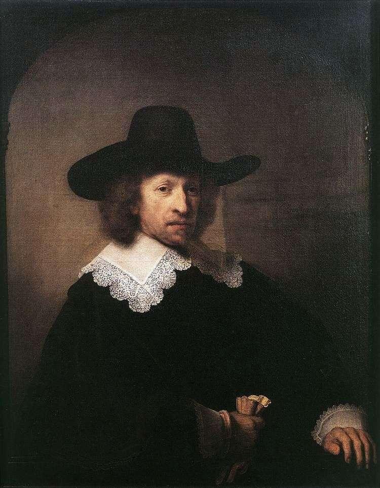 Portrait of Nicholas Van Bambek by Rembrandt Harmens Van Rhine