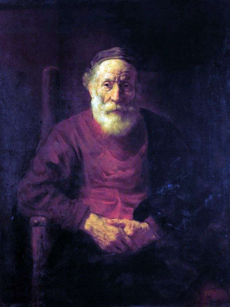 Portrait of an Old Man in Red by Rembrandt Harmens Van Rhine