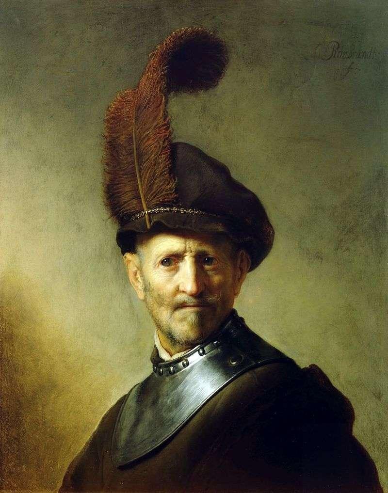 Portrait of an Old Warrior by Rembrandt Harmens Van Rhine