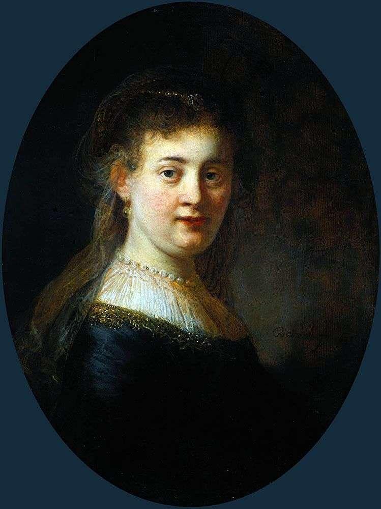 Saskia van Eilenburg by Rembrandt Harmens Van Rhine