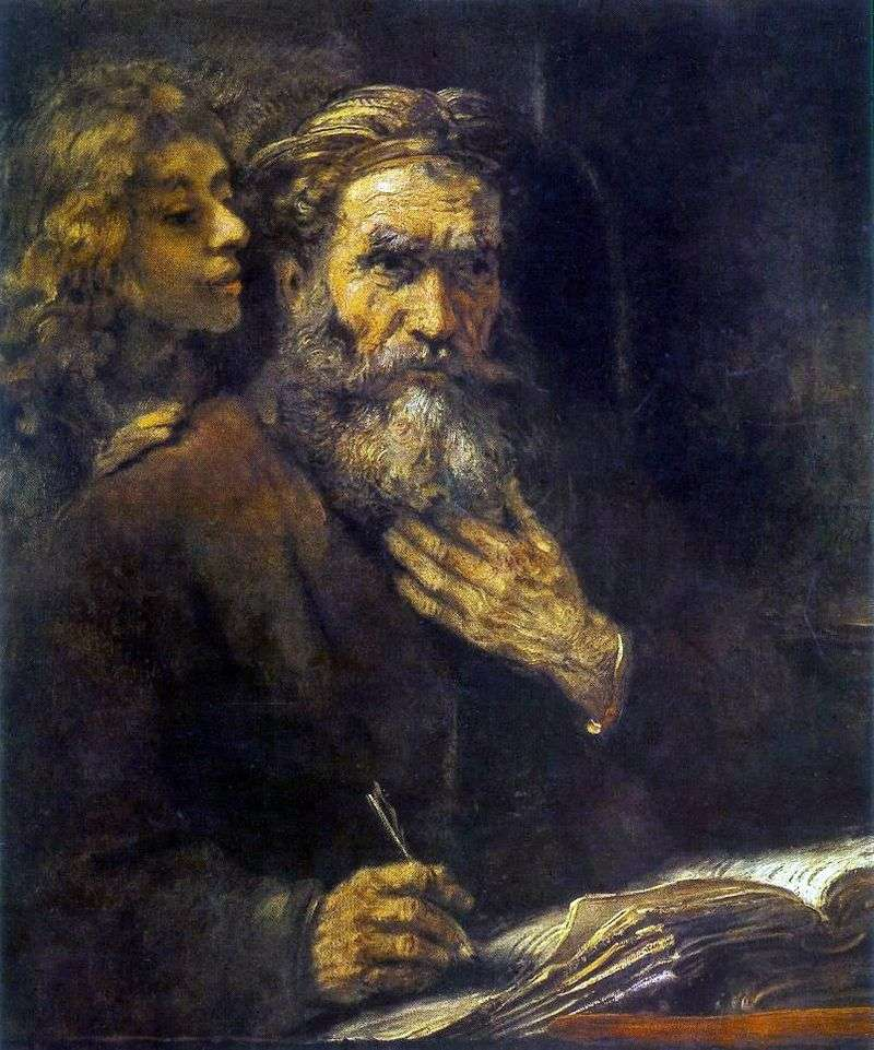 Saint Matthew and the Angel by Rembrandt Harmens Van Rhine