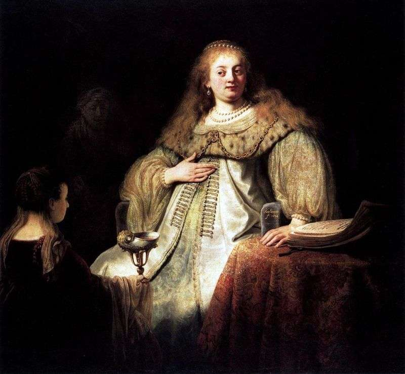 Sofonisba Takes a Bowl of Poison by Rembrandt Harmens Van Rhine