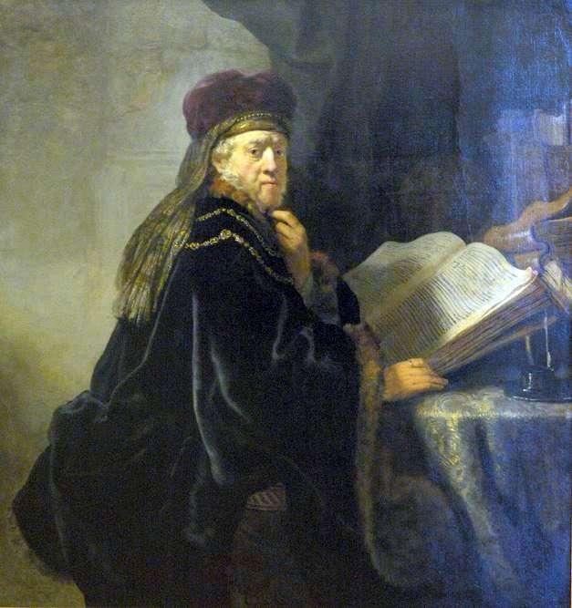 Scientist in the Office (Rabbi) by Rembrandt Harmens Van Rhine