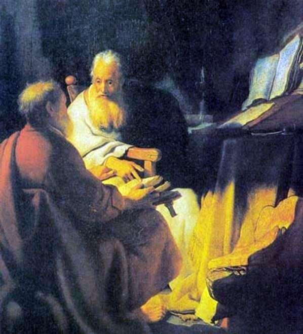 Scholarly Dispute by Rembrandt Harmens Van Rhine