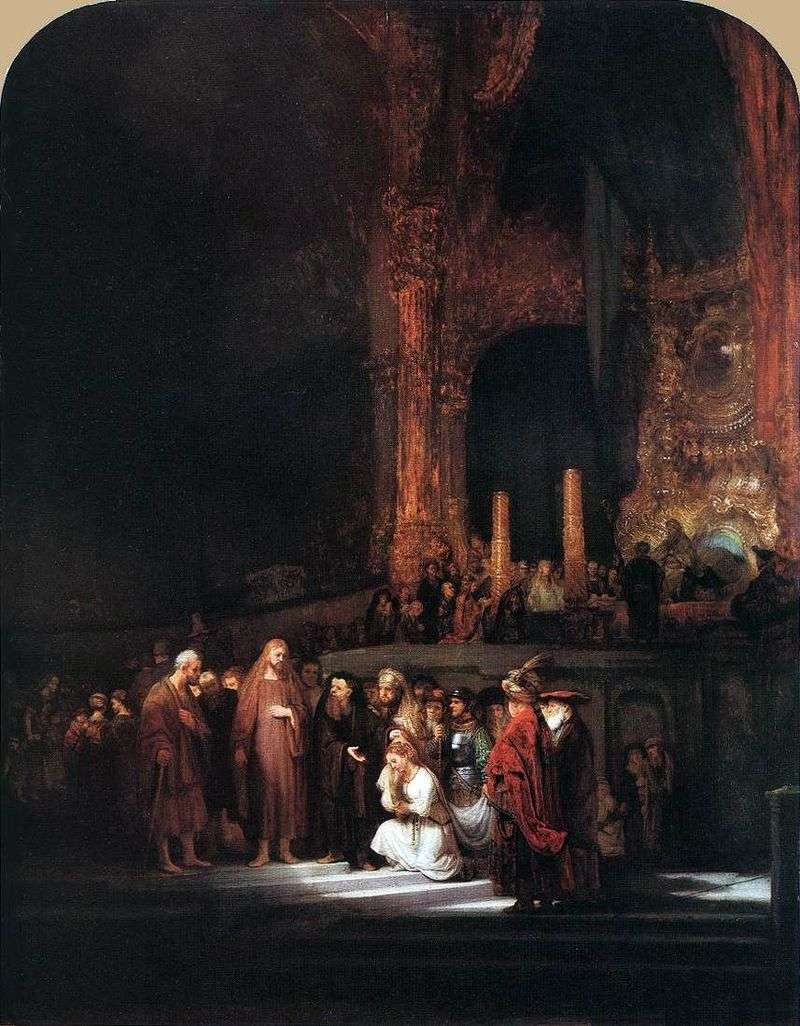 Christ and the Sinner by Rembrandt Harmens Van Rhine