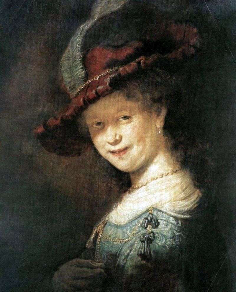Portrait of Saskia van Eilebürch by Rembrandt Harmens Van Rhine