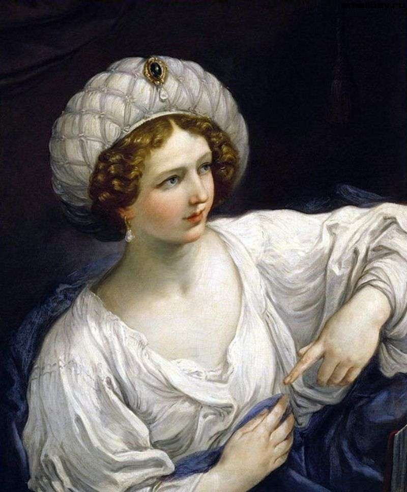 Portrait of a lady in the guise of a sibyl by Guido Renee