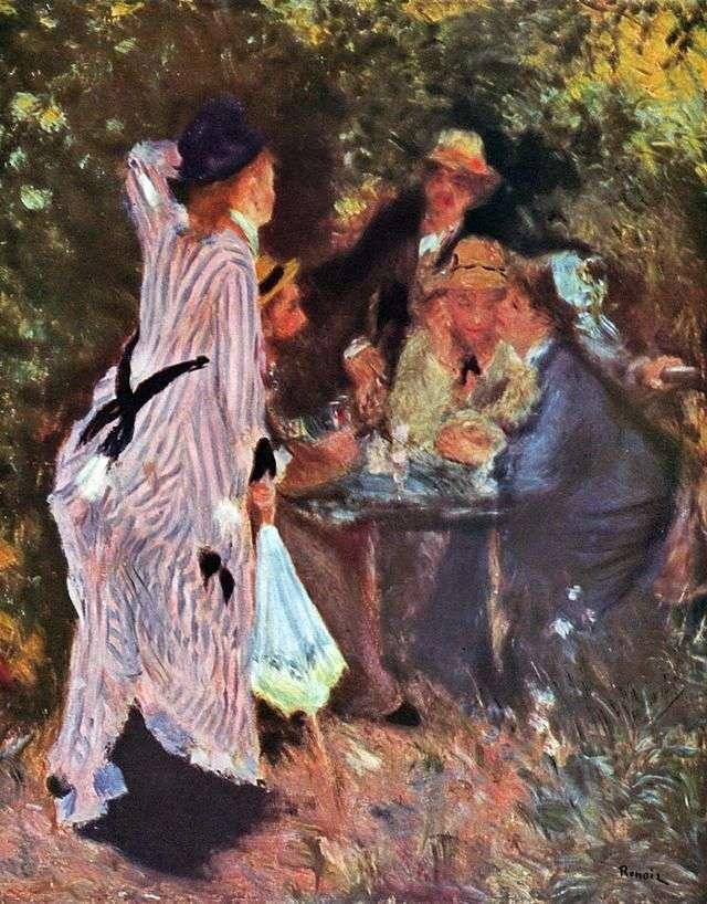 In the Garden (Under the trees in Moulins de la Galette) by Pierre Auguste Renoir