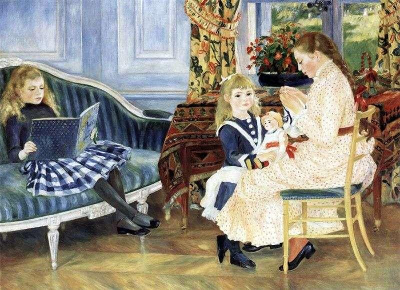 Noon Children in Vargemont by Pierre Auguste Renoir