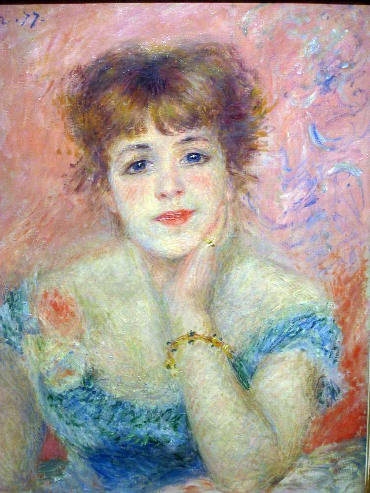 Portrait of Actress Jeanne Samary by Pierre Auguste Renoir