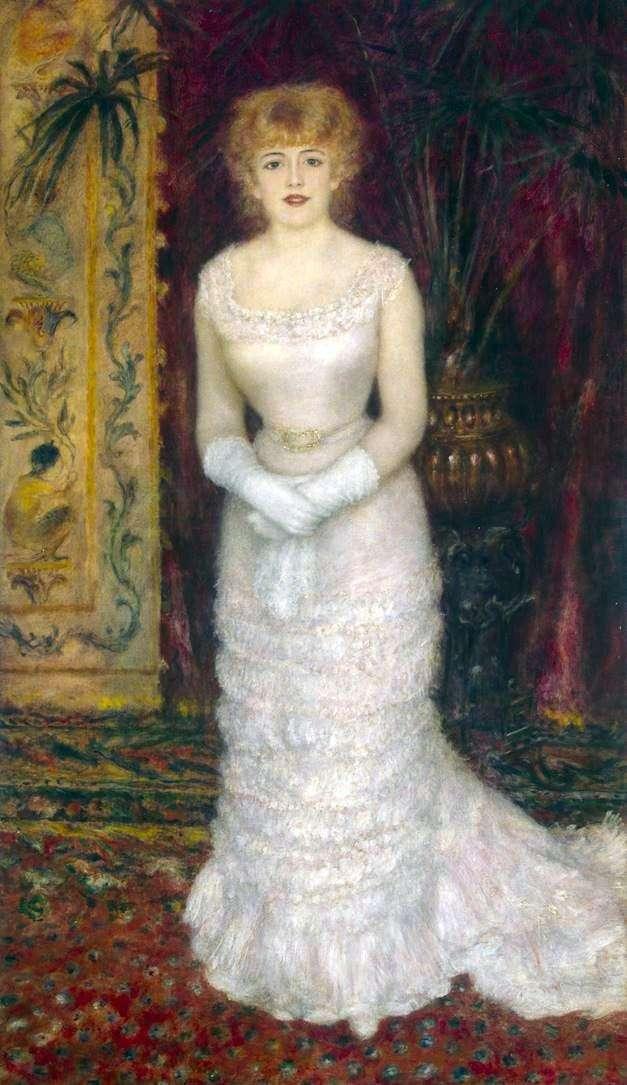 Portrait of Jeanne Samary in full growth by Pierre Auguste Renoir
