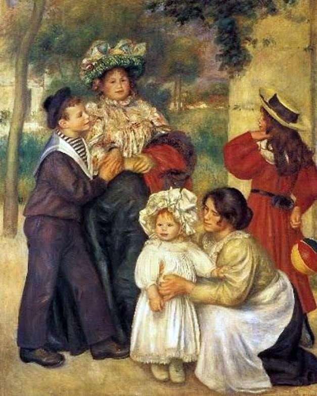 Artists family by Pierre Auguste Renoir