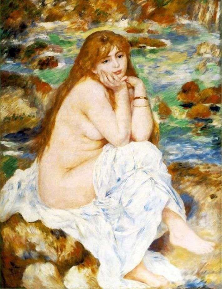 Seated Bather by Pierre Auguste Renoir