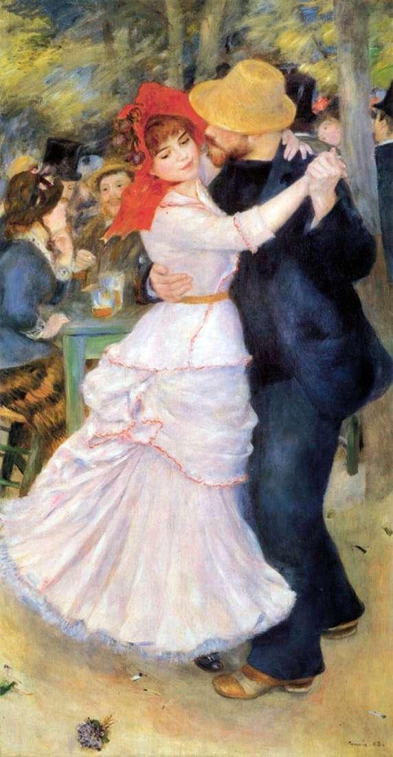 Dance in Bougival by Pierre Auguste Renoir