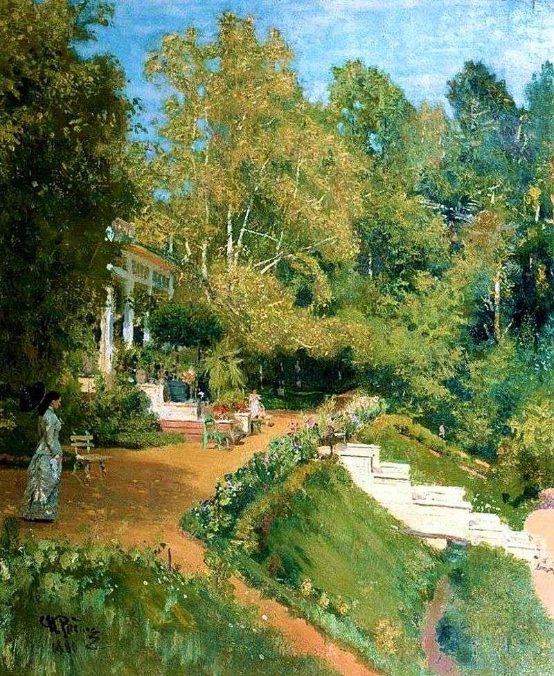 Abramtsevo. Summer landscape by Ilya Repin