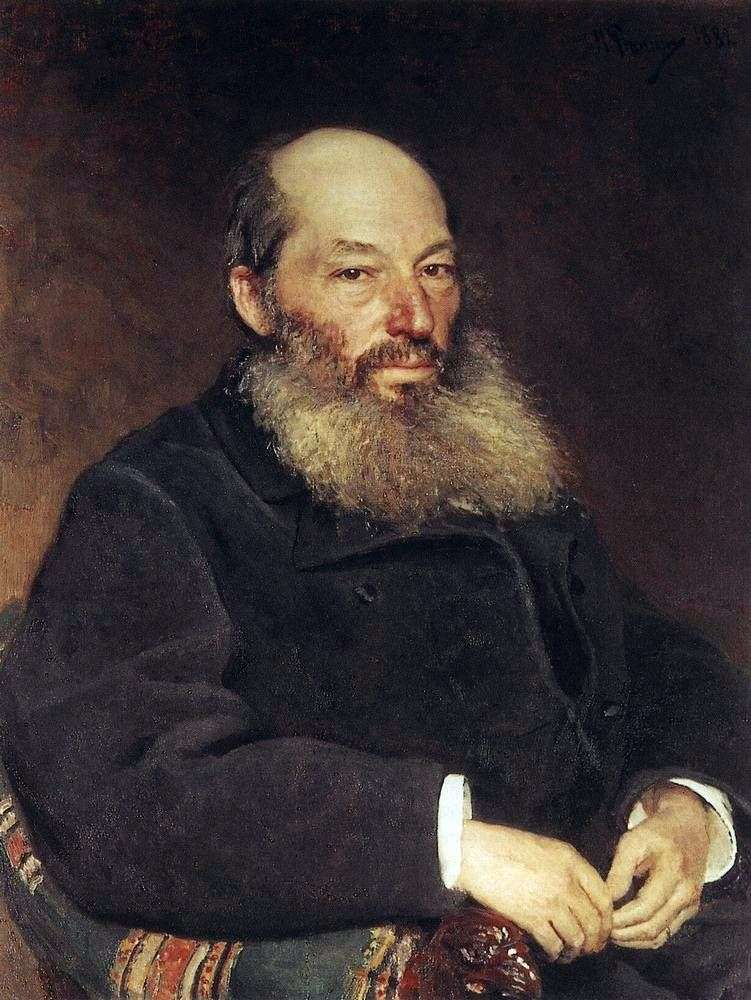 Afanasy Fet by Ilya Repin