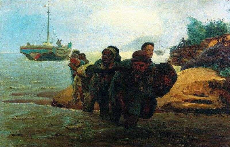Wandering haulers by Ilya Repin
