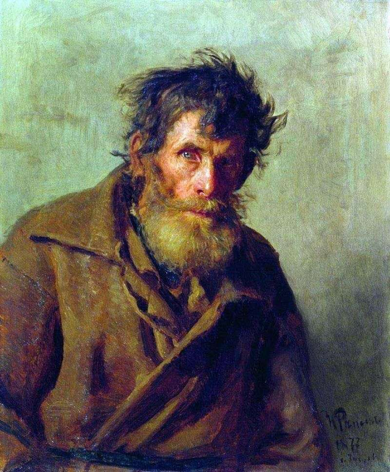 The timid little man by Ilya Repin