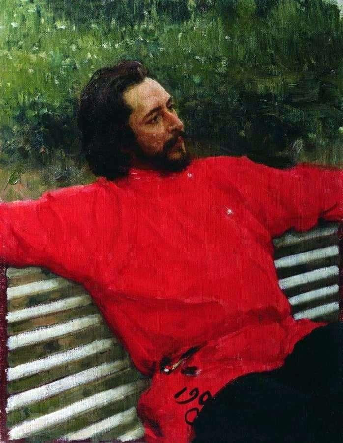 Portrait of Andreev by Ilya Repin