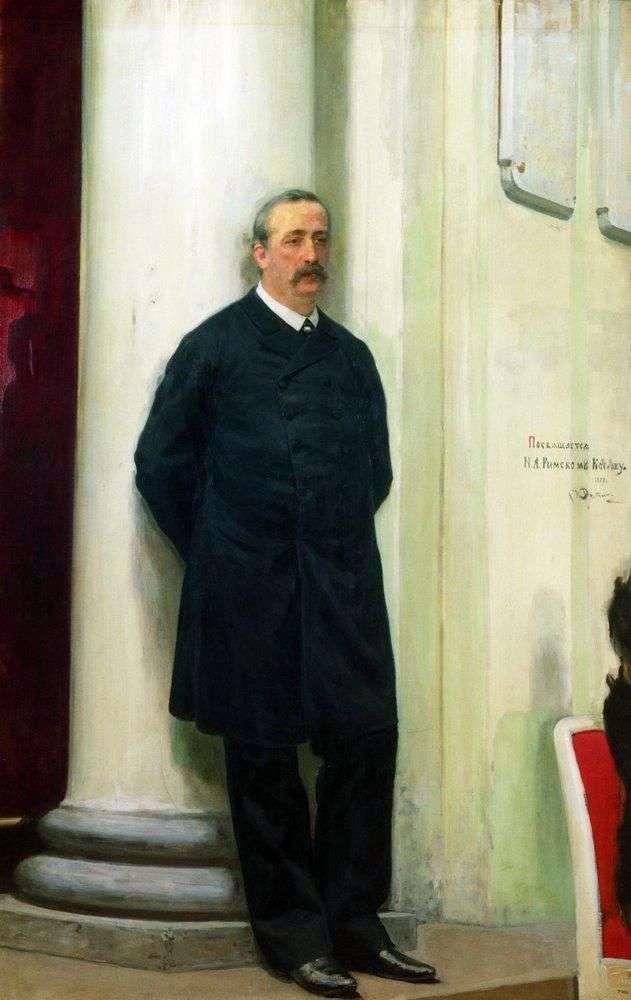 Portrait of the composer and chemist Alexander Borodin Porfirievich by Ilya Repin