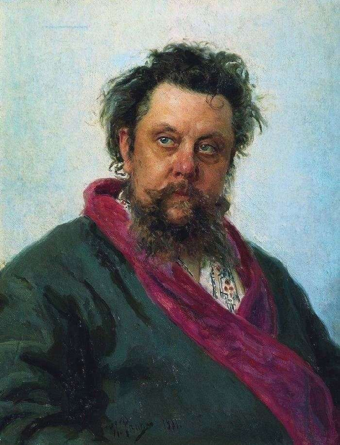 Portrait of the composer M. P. Mussorgsky by Ilya Repin