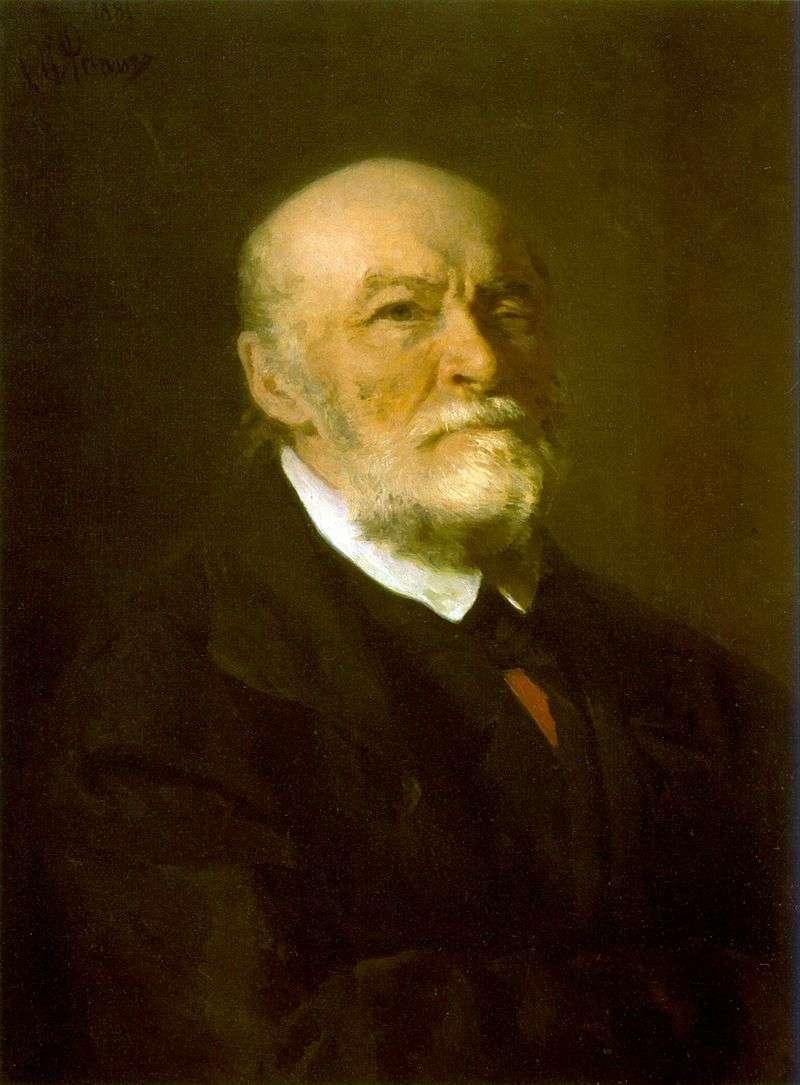 Portrait of N. I. Pirogov by Ilya Repin