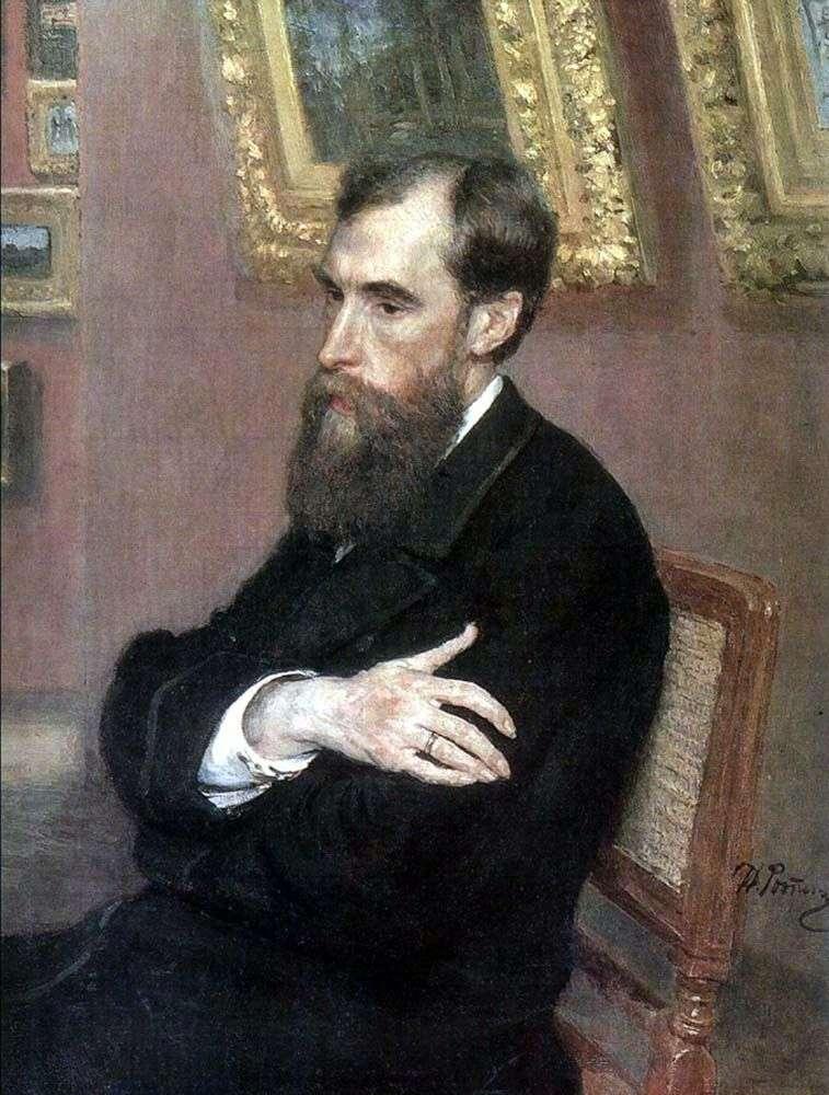 Portrait of P. M. Tretyakov by Ilya Repin