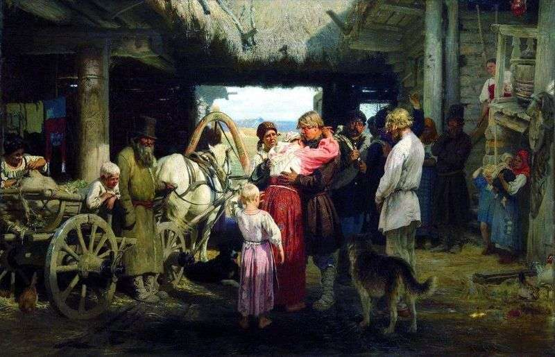 Seeing a Recruit by Ilya Repin