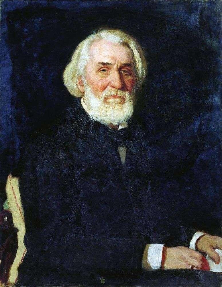 Turgenev by Ilya Repin