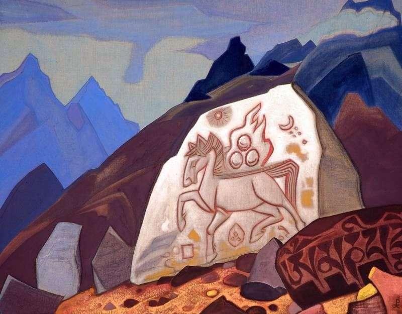 White Stone by Nicholas Roerich
