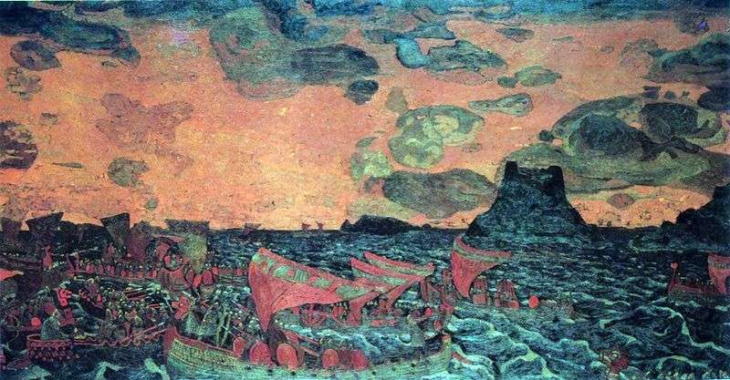 Fight by Nicholas Roerich