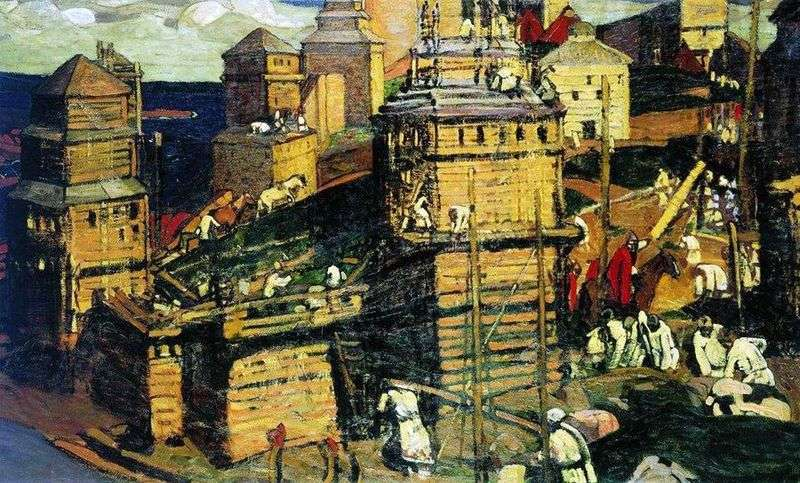 The city is being built by Nicholas Roerich