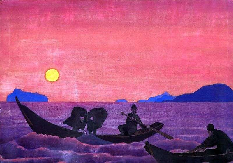 And we continue fishing by Nicholas Roerich