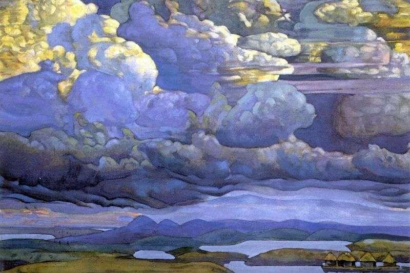 Heavenly battle by Nicholas Roerich