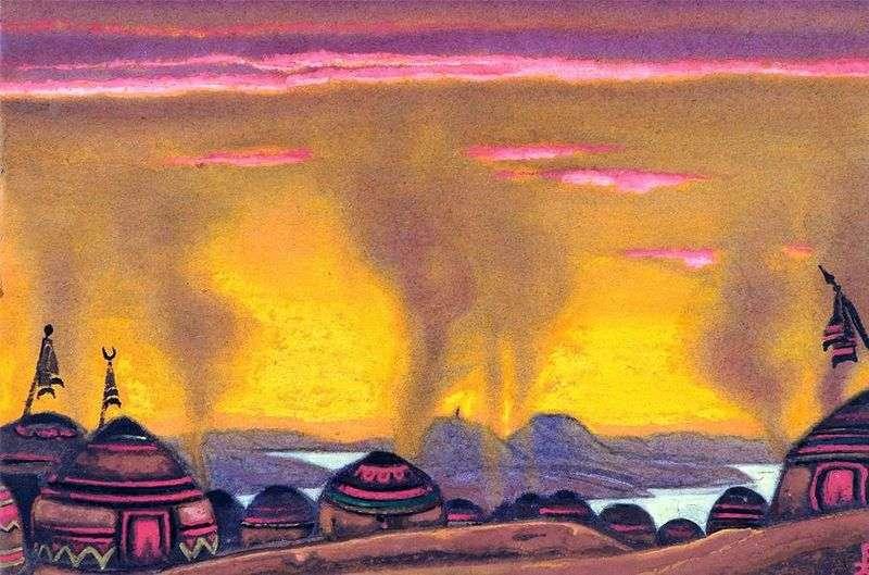Polovtsy camp by Nicholas Roerich