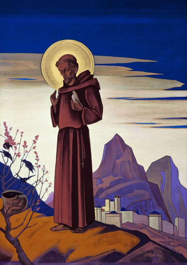 Saint Francis by Nicholas Roerich