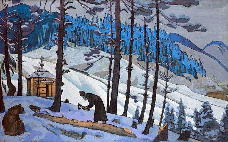 Sergiy the builder by Nicholas Roerich