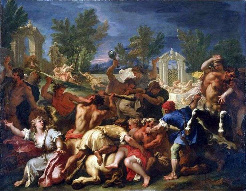 The Battle of the Lapith with Centaurs by Sebastiano Ricci