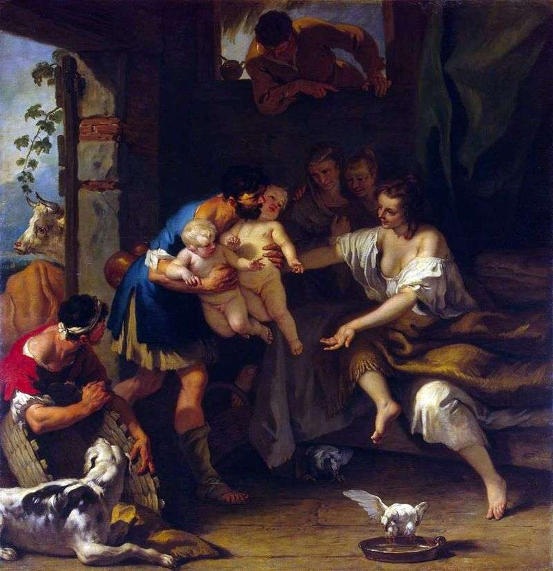 Infancy of Romulus and Remus by Sebastiano Ricci